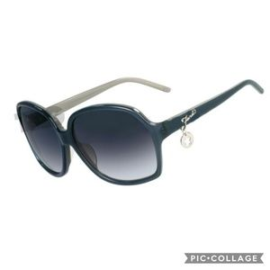 Fendi Dark Turqoise/Grey Charm Sunglasses w/ Case